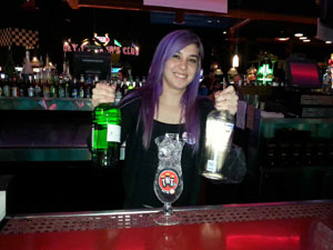 Nicole Bartending At Dave And Busters